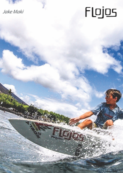 Jake Maki, 12-year-old professional surfer and part of Team Flojos.
